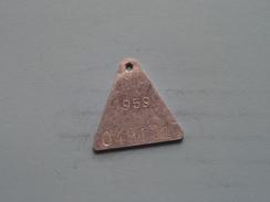 Belasting Op HONDEN West Vlaanderen 1959 ( TOKEN For Dog / Chien TAX / For Detail, Zie/see Photo ) ! - Belgium