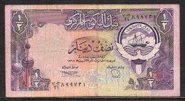 528-Koweit Billet De 1/2 Dinar 1980 Sig.6 - Koweït