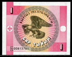 18-Kirghzistan Billets De 1, 10 Et 5 Tyiyn 1993 - Kirghizistan
