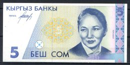 460-Kirghzistan Billets De 5 Son 1994 AC454 Neuf - Kirghizistan