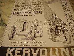 ANCIENNE PUBLICITE HUILE KERVOLINE SES QUALITE  1928 - Transportation