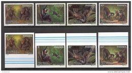 Rwanda 1988. Michel #1389/92 A+B MNH/Luxe. Monkeys. (Ts11) - Rwanda