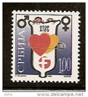 048. Yugoslavia (Serbia), 1999, Fight Against AIDS, Surcharge, MNH (**) - 1992-2003 Federal Republic Of Yugoslavia