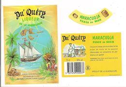 Etiquette  Liqueur DU´ QUERY Maracudja Punch Au Rhum  - GUADELOUPE - Imp. Gougenheim - - Rhum