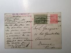 "Australia Postal Stationery 1d ""GOLD DREDGING VICTORIA"" Mixed Franking TASMANIA 1/2d Melbourne 1912 (mine D' Or Cover - 1850-1912 Victoria"