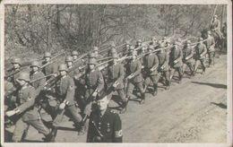 Soldaten Auf Dem Marsch, Deutsche Wehrmacht, Foto-Postkarte, Militär, Deutsches Reich - Weltkrieg 1939-45