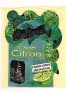 Etiquette  Ti'punch Citron  - Callard - Au Rhum Agricole - Fabrication Artisanale - Pointe Noire - GUADELOUPE - - Rhum