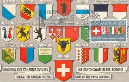 D30909 CARTE MAXIMUM CARD 1965 SWITZERLAND - COAT OF ARMS SWISS CANTONS GENÈVE BLASONS CP ORIGINAL - Maximum Cards