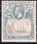 ST HELENA 1923 SG #100 2d MH Tiny Thin On Back - Isola Di Sant'Elena