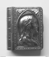 Boîte De Chapelet En Fer  - Tin Box For Rosary - Blikken Doosje Voor Rozenkrans  4 X 3.5 X 1 Cm Nietboekje - Religión & Esoterismo