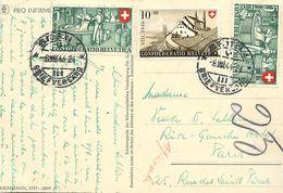A-17. 7985 :  CARTE  AVEC TIMBRES MULTIPLES - Schweiz
