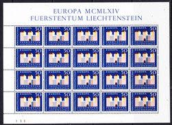 Europa Cept 1964 Liechtenstein 1v Sheetlet ** Mnh (CO320) - 1964