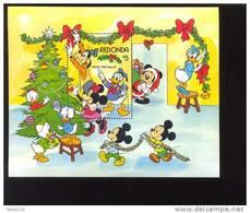 #  488  MINT NEVER HINGED SOUVENIR SHEET OF DISNEY  CHRISTMAS (  REDONDA   1983 - Disney