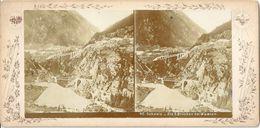 Wassen - Die Drei Brücken  (Stereobild)            Ca. 1890 - UR Uri