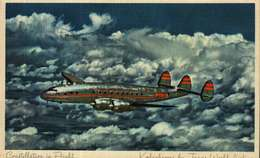 Carte Postale - Avion  CONSTELLLATION  In Flight  De TWA - 1939-1945: 2. Weltkrieg