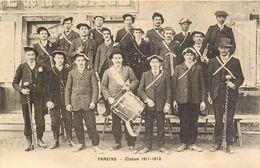 FAREINS - Canton De Saint-Trivier-sur-Moignans Tambour Instrument De Musique Conscrits Classe 1911-1912 - RHÔNE  01480 - France