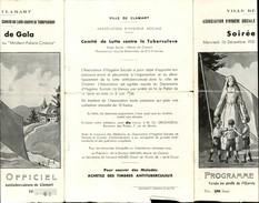 SANTE - Programme Gala Ville De CLAMART - Comité Lutte Tuberculose - Programmes