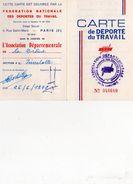 CARTE DE DEPORTE DU TRAVAIL  F.N.D.T. DE LA DROME  PIERRELATE  1978  N° 048640 - Dokumente