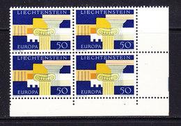 Europa Cept 1963 Liechtenstein 1v Bl Of 4 ** Mnh (CO327) - Europa-CEPT