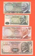 Turchia Turkey 5 + 10 + 20 + 50 Lirasi Turkiye - Turkey