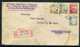 Portugal - Enveloppe En Recommandé De Lisbonne Pour La France En 1932, Affranchissement Plaisant Quadricolore- Ref JJ 93 - 1910-... République