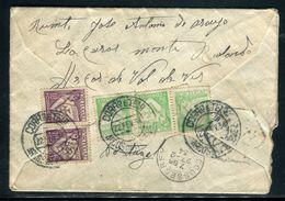 Portugal - Enveloppe En Recommandé De Arcos De Valdeze Pour La France En 1934, Affranchissement Au Verso - Ref JJ 94 - Lettres & Documents