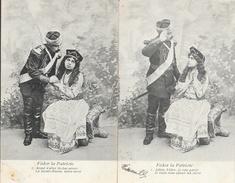 Série Complète De 6 Cartes: Fédor La Patriote 1904 - Couple Avec Militaire Russe - Paare