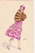 CPA Femme Lady Women Glamour Bonne Année Silhouettes Hivernales Illustrateur X. SAGER - Sager, Xavier