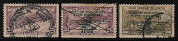 Philippines Islands Airmail Plain & Overprinted 3 Value Used Stamps # AR:102 - Philippines