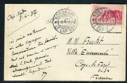 Norvège - Oblitération Et Carte Postale Du Cap Nord En 1937 Pour La France - Ref JJ 107 - Covers & Documents