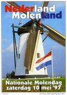 Molen/moulin - STICKER (zelfklever/autocollant) Van De Nationale Molendag (Nederland) 10 Mei 1997 - Stickers