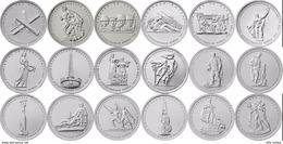Russia, 2014-2015 II World War Victory, 18 Coins X 5 Rbl Rubels - Russland