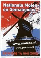 Molen/moulin - STICKER (zelfklever, Autocollant) Van De Nationale Molen- En Gemalendag (Nederland) 2005 - Stickers