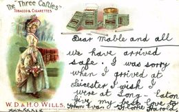 WD AND HO WILLS   THE THREE CAFTLES  1905 - Publicité