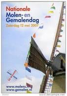 Molen/moulin - STICKER (autocollant/zelfklever) Van De Nationale Molen- En Gemalendag (Nederland) 2007 - Stickers