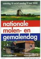 Molen/moulin - STICKER (autocollant/zelfklever) Van De Nationale Molen- En Gemalendag (Nederland) 2008 - Stickers