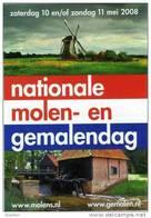 Molen/moulin - STICKER (autocollant/zelfklever) Van De Nationale Molen- En Gemalendag (Nederland) 2008 - Pegatinas