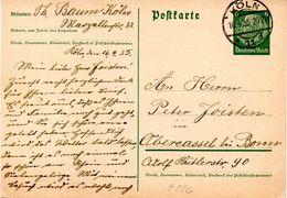 "(L) DR Amtl. Ganzsache P 226 I Postkarte ""Hindenburg Medaillon"" 6(Pf) Graugrün TSt 16.4.35 KÖLN - Postwaardestukken"