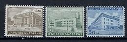 ARCHITECTURE - 1940 - BULGARIA - Mi. Nr. 429/431 -  NH - (CW2427.49) - 1909-45 Regno