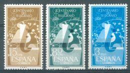 SPAIN - MNH/*** LUXE  - 1955 - TELEGRAFO -  Mi 1065-1067 Yv 873-875 Ed 1180-1182  Lot 15733 - 1931-Aujourd'hui: II. République - ....Juan Carlos I