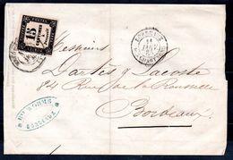 FRANCE - 1865 - YT N° 3 Seul Sur Lettre - Taxes
