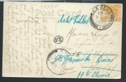 Timbre De Malaisie Yvert N°46 Oblitéré Cad Kampar En 1920 Au Dos D'une Cpa Pour Paris  - Odg67 - Federated Malay States