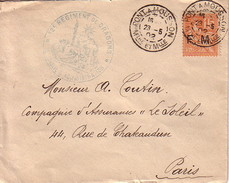 MEUTHE ET MOSELLE - PONT A MOUSSON - 12e REGIMENT DE DRAGONS * CONSEIL D'ADMINISTRATION * - MOUCHON SURCHARGE FM - 23-2- - Military Postmarks From 1900 (out Of Wars Periods)