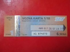 Tram Tickets-ZET / Zagreb Electric Tram - Tramways