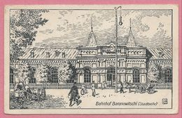 Bielorussie - Belarus - BARANOWITCHI - Bahnhof - Gare - Feldpost - Guerre 14/18 - Zeichnung - Belarus