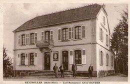 (43)  CPA  Retzwiller  Café Restaurant Alfred Deyber   (Bon Etat) - Otros Municipios