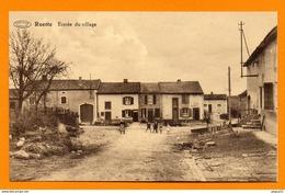 Ruette ( Virton). Entrée Du Village. Femme Et Enfants - Virton