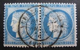 LOT R1861/586 - CERES N°60C (PAIRE) CàD De VERNEUIL-SUR-AVRE (Eure) AVRIL 1876 - 1871-1875 Ceres