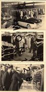 LA REINE ELISABETH II D'ANGLETERRE EN VISITE USINES RENAULT DE FLINS-AVRIL 1957-LA REINE EN FREGATE CABRIOLET-VOITURE - Automobiles