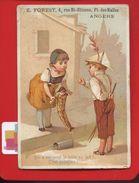 Angers Forest Rue Saint-Étienne  Jolie Chromo Enfants  Arlequin Chapeau De Papier Boîte De Lait - Cromo